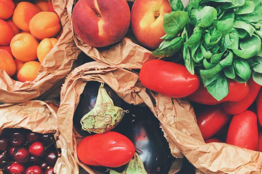 Verdura, frutta evino