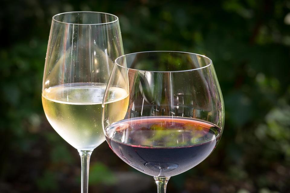 vino bianco vino rosso