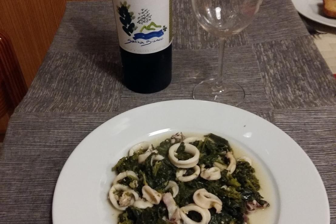 Calamari e broccoletti